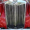 1955 Red Mg Grille by Mark Steven Burhart
