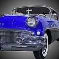 1956 Buick Special Riviera Coupe-blue by Michael Porchik
