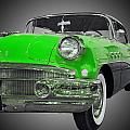 1956 Buick Special Riviera Coupe-green by Michael Porchik