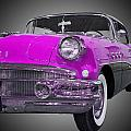 1956 Buick Special Riviera Coupe-purple by Michael Porchik