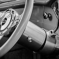 1956 Chevrolet 210 2-door Handyman Wagon Steering Wheel Emblem -189bw by Jill Reger