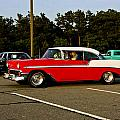 1956 Chevy Bel Air Red And White by Dennis Coates