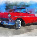 1956 Chevy Car Photo Art 01 by Thomas Woolworth