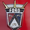 1956 Ford Fairlane Emblem by Jill Reger