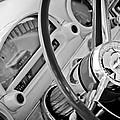 1956 Ford Thunderbird Steering Wheel -322bw by Jill Reger