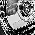 1956 Ford Thunderbird Wheel Emblem -232bw by Jill Reger