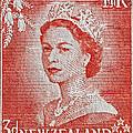 1956 Queen Elizabeth New Zealand Stamp by Bill Owen
