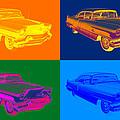 1956 Sedan Deville Cadillac Luxury Car Pop Art by Keith Webber Jr