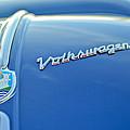 1956 Volkswagen Vw Bug Hood Emblem by Jill Reger