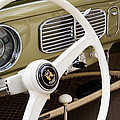 1956 Vw Convertible Steering Wheel by Roger Mullenhour