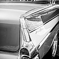 1957 Chevrolet Belair Coupe Tail Fin -019bw by Jill Reger