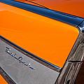 1957 Chevrolet Belair Rear Emblem -037c by Jill Reger