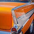 1957 Chevrolet Belair Taillight Emblem -019c by Jill Reger