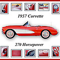 1957 Chevrolet Corvette Art by Jill Reger