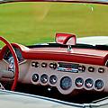 1957 Chevrolet Corvette Roadster Dashboard by Jill Reger