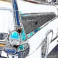 1957 Chevrolet Bel Air Art White by Lesa Fine