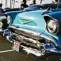 1957 Chevy Bel Air Blue Front End by Dennis Coates