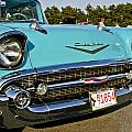 1957 Chevy Bel Air Blue Front Grill by Dennis Coates