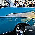 1957 Chevy Bel Air Blue Rear Quarter by Dennis Coates