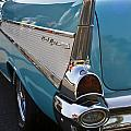 1957 Chevy Bel Air Blue Rear Quarter From Back by Dennis Coates