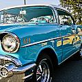 1957 Chevy Bel Air Blue Right Side by Dennis Coates
