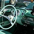 1957 Chevy Bel Air Green Interior Dash by Dennis Coates