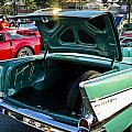 1957 Chevy Bel Air Green Rear Trunk Open by Dennis Coates