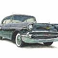 1957 Chevy by Charles L Dietz Jr