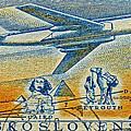 1957 Czechoslovakia Airline Stamp by Bill Owen