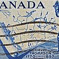 1957 David Thompson Canada Stamp by Bill Owen