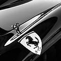 1957 Ferrari Tr 250 - 0714 Emblem -0379bw by Jill Reger