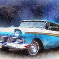 1957 Ford Classic Car Photo Art 02 by Thomas Woolworth