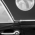 1957 Ford Thunderbird Window Black And White by Jill Reger