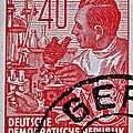 1957 German Democratic Republic Chemist Stamp by Bill Owen