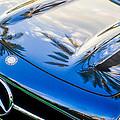 1957 Mercedes-benz 300sl Grille Emblem -0167c by Jill Reger