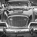 1957 Studebaker Golden Hawk Bw by Rich Franco