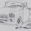 1958 Chevby Pick Up Junkyard Dawg Aka The Bull Dawg by Russell Boothe