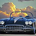 1958 Corvette In Clouds by Dave Koontz