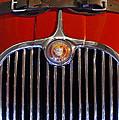 1958 Jaguar Xk150 Roadster Grille Emblem by Jill Reger
