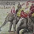 1958 Laos Elephant Stamp IIi by Bill Owen