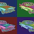 1958 Plymouth Savoy Classic Car Pop Art by Keith Webber Jr