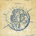1958 Space Satellite Structure Patent Vintage by Nikki Marie Smith
