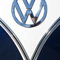 1958 Volkswagen Vw Bus Emblem by Jill Reger