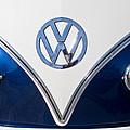 1958 Volkswagen Vw Bus Hood Emblem by Jill Reger