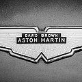 1959 Aston Martin Db4 Gt Hood Emblem -0127bw by Jill Reger