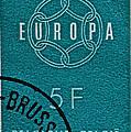 1959 Belgium Stamp - Brussels Cancelled by Bill Owen
