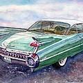 1959 Cadillac Cruising by Anna Ruzsan