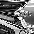 1959 Cadillac Eldorado Taillight -097bw by Jill Reger
