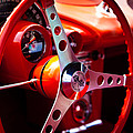 1959 Chevy Corvette Steering Wheel by David Patterson