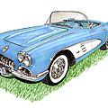 1959 Corvette Frost Blue by Jack Pumphrey
